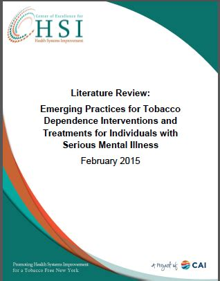 Tobacco and mental health a literature reviews